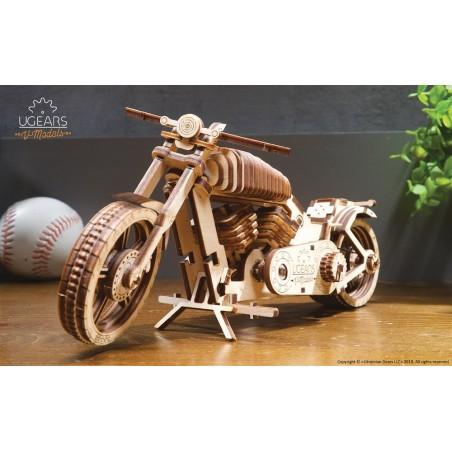 Ugears 3D mechanické puzzle Motorka 189 dílů