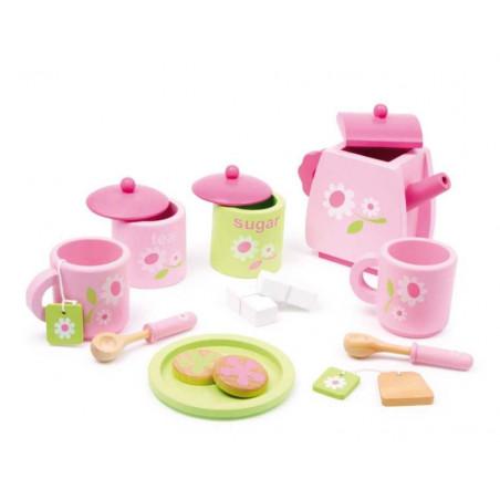 Legler Dřevěné hračky - Dřevěný čajový set Rose