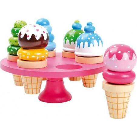 Legler Dřevěné hračky - Zmrzlina v kornoutku