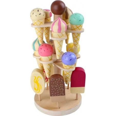Legler Dřevěný zmrzlinový podstavec