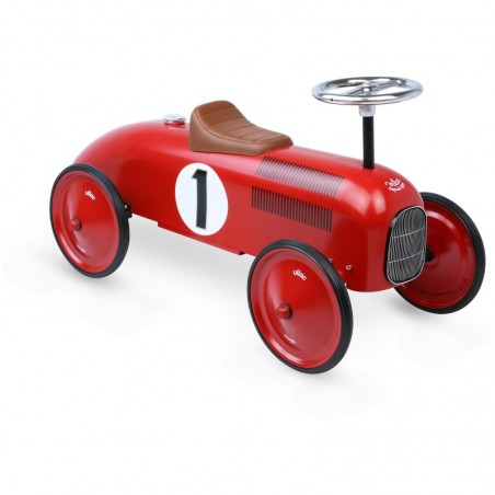 Vilac Historické závodní kovové odrážedlo červené