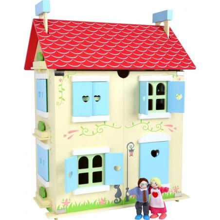 Small Foot Dřevěný domeček pro panenky s odjímatelnou střechou