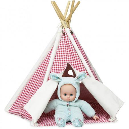 Vilac Mini týpí pro panenky karované