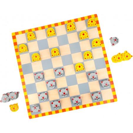 Small Foot by Legler dřevěné hry - Dáma Kočka a myš
