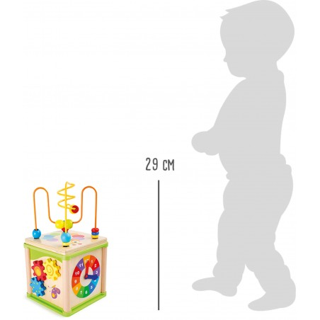 Small Foot by Legler Dřevěná motorická kostka louka