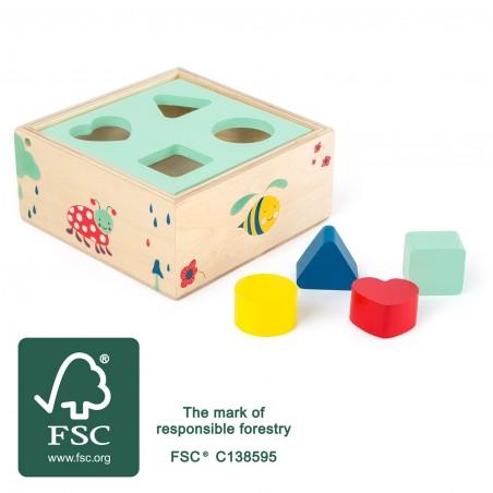 Small Foot by Legler Lesní krabička vkládání tvarů