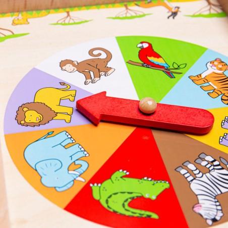 Bigjigs dřevěná hra Ruleta se zvířátky