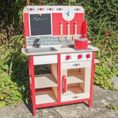 Bigjigs dřevěná kuchyňka červená