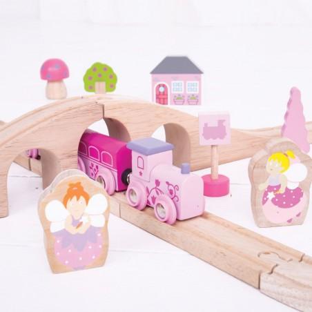 Bigjigs Rail vláčkodráha osmička pro holky