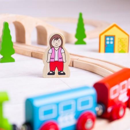 Bigjigs Rail dřevěná vláčkodráha Osmička 40 dílů