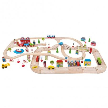 Bigjigs Rail Vláčkodráha s cestami