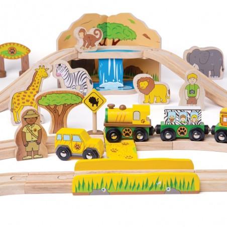 Bigjigs Rail dřevěná vláčkodráha Safari