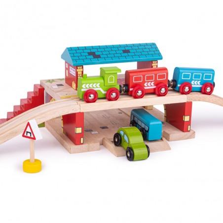 Bigjigs Rail Nádraží nad cestou