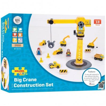 Bigjigs Rail Jeřáb a stavební stroje