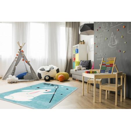 Dětský kusový koberec Lollipop 181 Bunny 90x130 cm