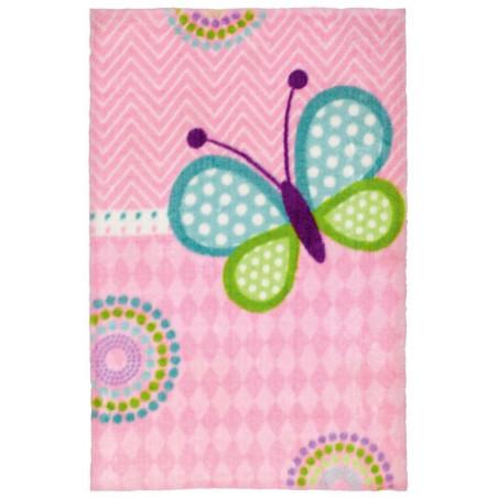 Dětský kusový koberec Lollipop 184 Butterfly 90x130 cm