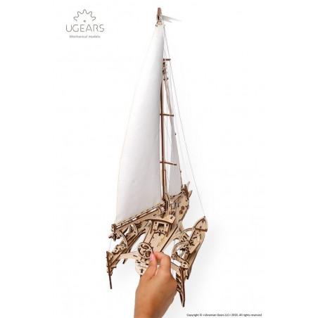 Ugears Dřevěná stavebnice 3D mechanické puzzle Plachetnice