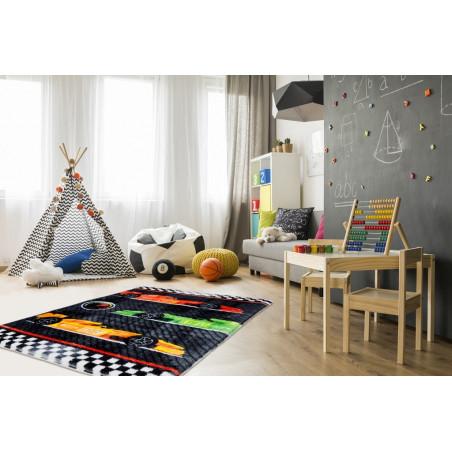 Dětský kusový koberec Lollipop 183 Race - DOPRAVA ZDARMA