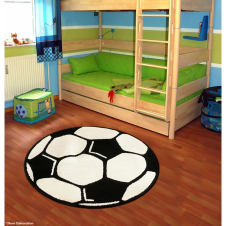 Kusový koberec Prime Pile Fussball 100015 pr. 100 cm