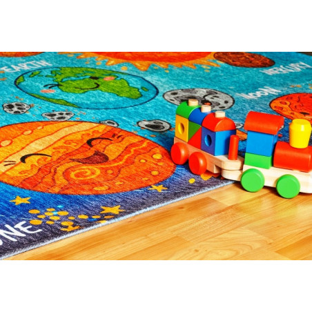 Kusový koberec Torino kids 230 SOLAR SYSTEM 80x120 cm