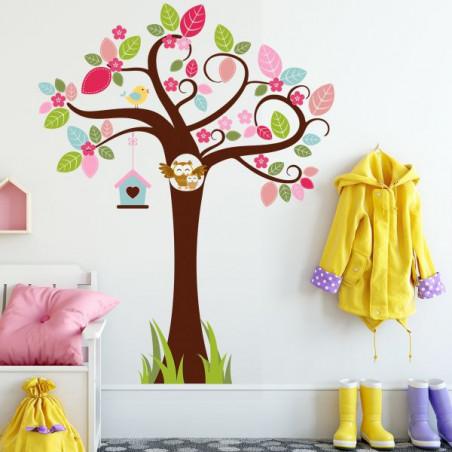 Barevný strom se sovičkami 150 cm