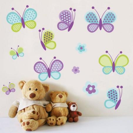 Motýlci a květiny II.