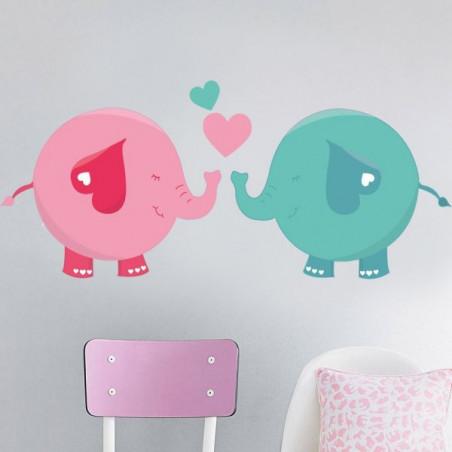 Modrý a růžový slon