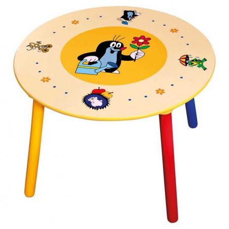 Bino Dětský stolek, 2 sedátka, Krteček