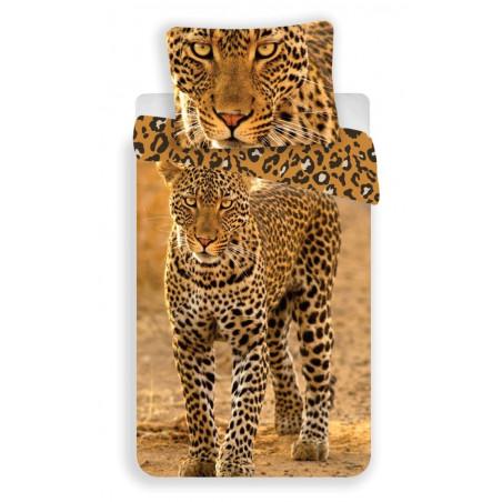 Jerry Fabrics Povlečení fototisk Leopard 2017 140x200, 70x90 cm